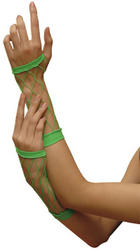 View Item Ladies' Neon Green Fishnet Gloves
