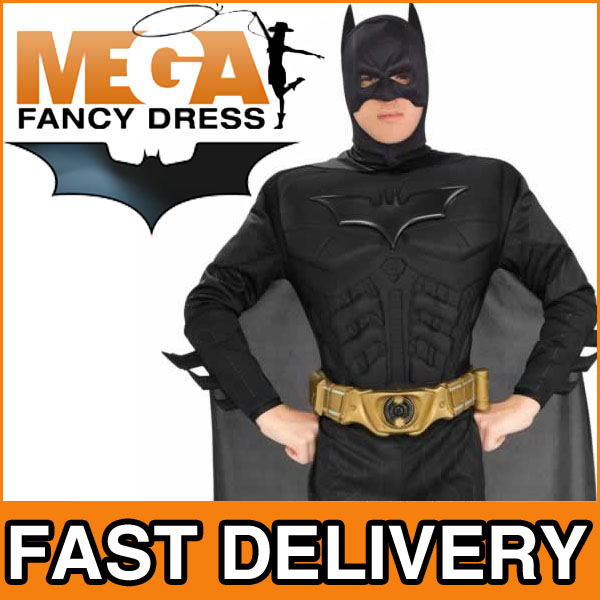 kost m dark knight batman erwachsene herren verkleidung gr en m l xl ebay. Black Bedroom Furniture Sets. Home Design Ideas