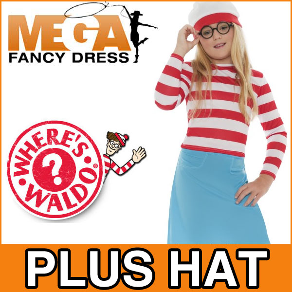 Girls-Wheres-Wally-Wenda-Kids-Book-Week-Fancy-Dress-Costume-Child-Outfit-4-12-Y