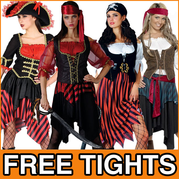 Pirate-Lady-Fancy-Dress-Ladies-Pirates-Costume-Adult-Outfit-Free-Tights