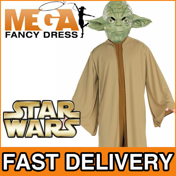 star wars m nner jedi yoda kost m von fancy dress karneval fasching halloween ebay. Black Bedroom Furniture Sets. Home Design Ideas