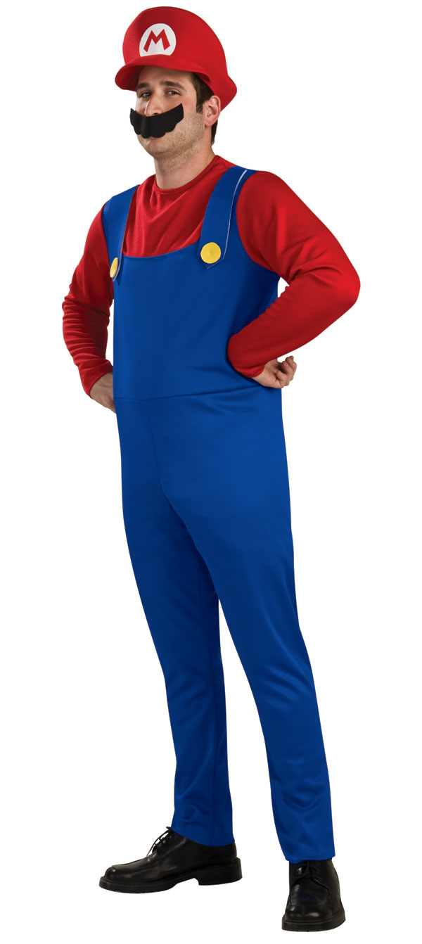 Super-Mario-Luigi-Bros-Mens-Boys-Fancy-Dress-Plumber-Game-Adult-Kids-Costume-NEW