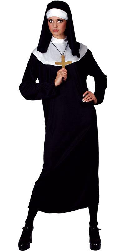 Long Nun Fancy Dress Large UK 18-20  Ladies Plus Size Uniform Adult Hen Costume