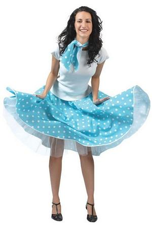 Blue Rock N Roll Skirt Costume