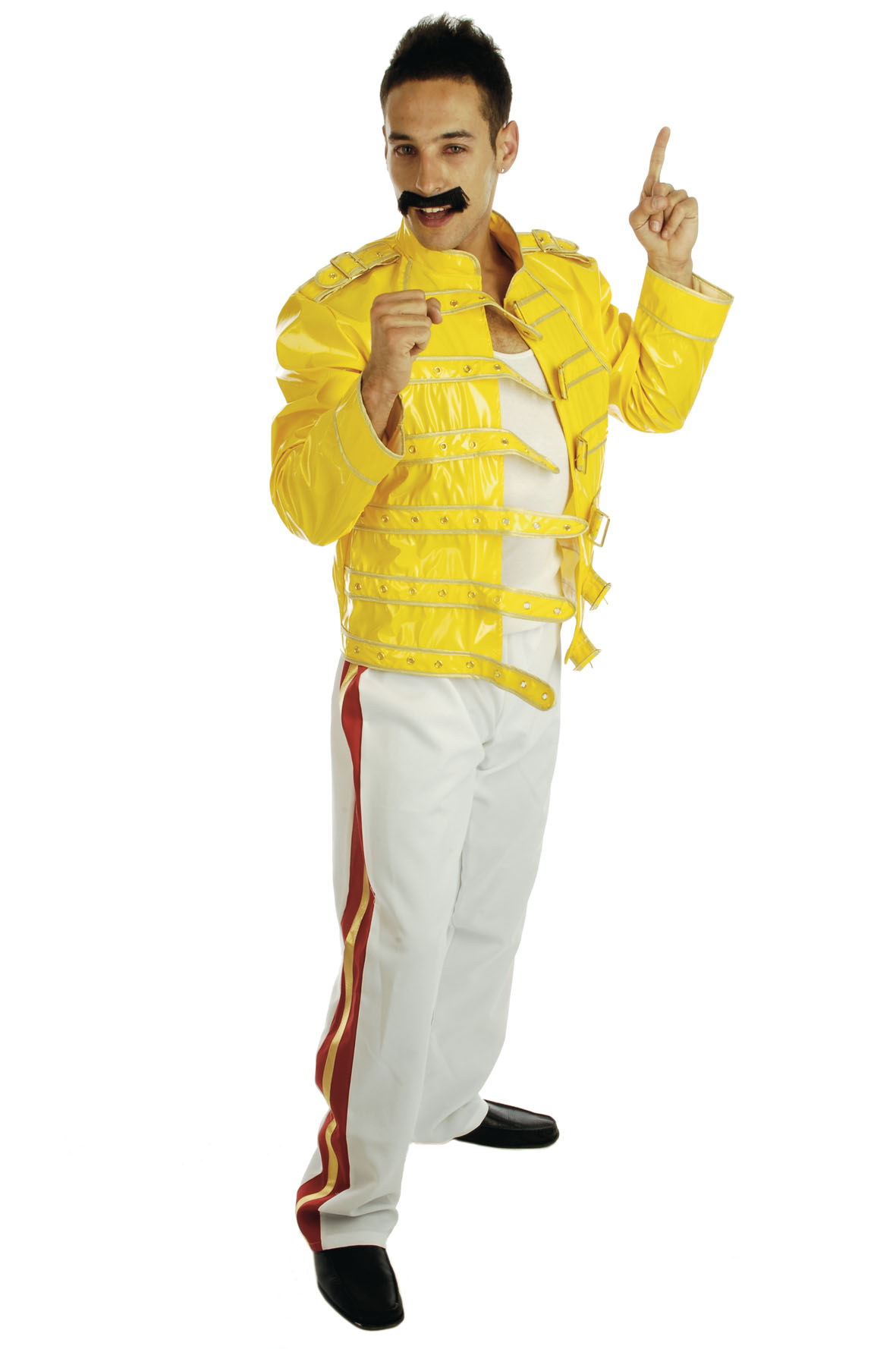 Freddie-Mercury-Rock-Legend-Mens-Fancy-Dress-80s-Adult-1980s-Costume    Queen Freddie Mercury Outfit
