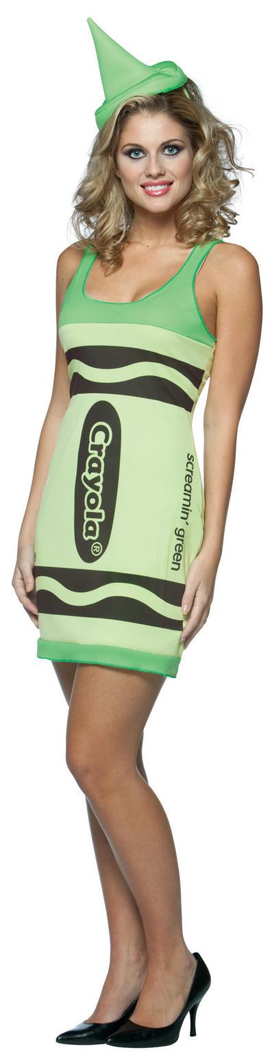 Crayola Neon Green Crayon Dress