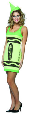 View Item Crayola Neon Green Crayon Dress