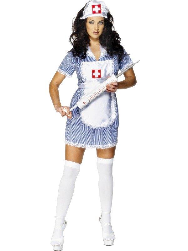 Nurse-Naughty-Ladies-Fancy-Dress-Sexy-Uniform-Costume-Hat-Outfit-UK-8-22