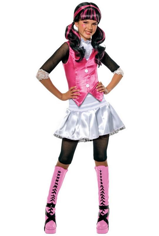 girls draculaura monster high school fancy dress halloween
