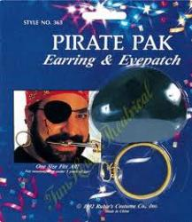 View Item Pirate Earring and Eye Patch Pack
