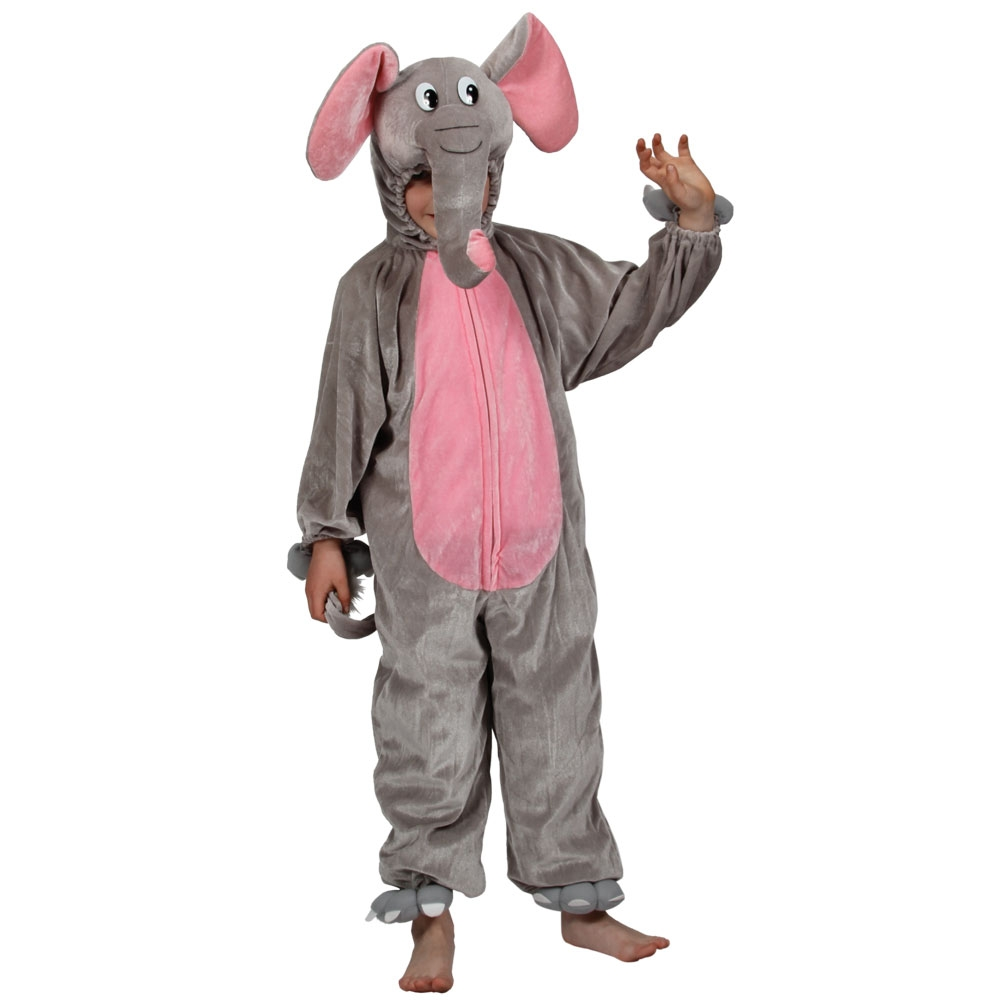 Elephant Kids Zoo Jungle Animal Fancy Dress Child Boys Girls Costume Kids 3-1...