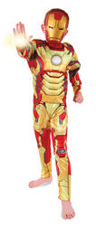 View Item Boys Iron Man 3 Superhero Fancy Dress Costume