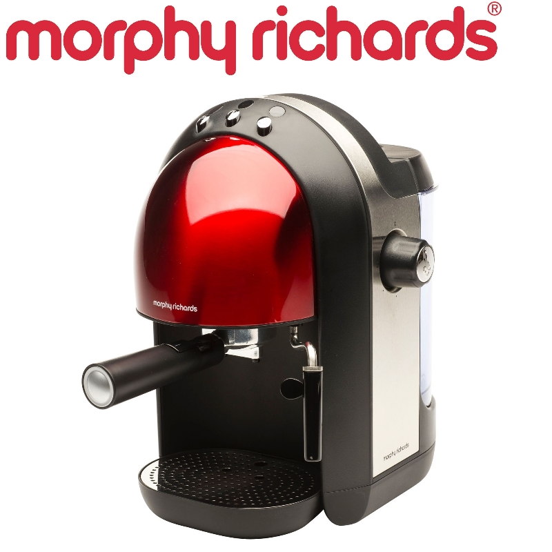 MORPHY RICHARDS 47586 1000W ACCENT ESPRESSO COFFEE MACHINE 1.25L - RED eBay