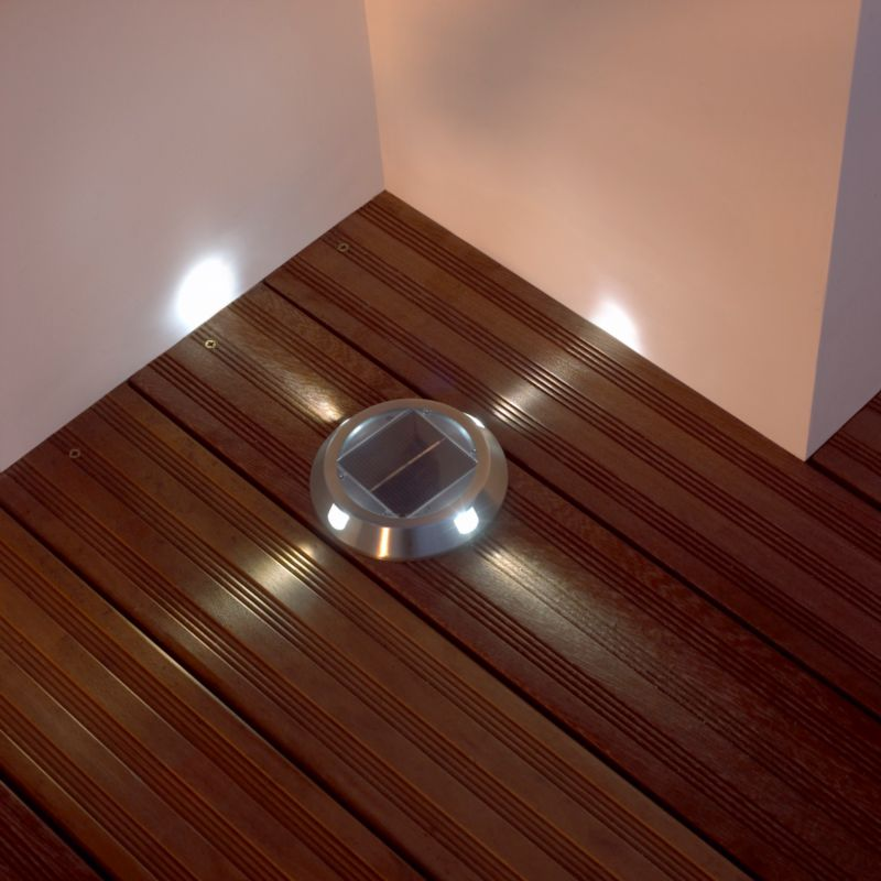 Quadra sw278du 4 point deck lights silver effect ultra for Decking lights