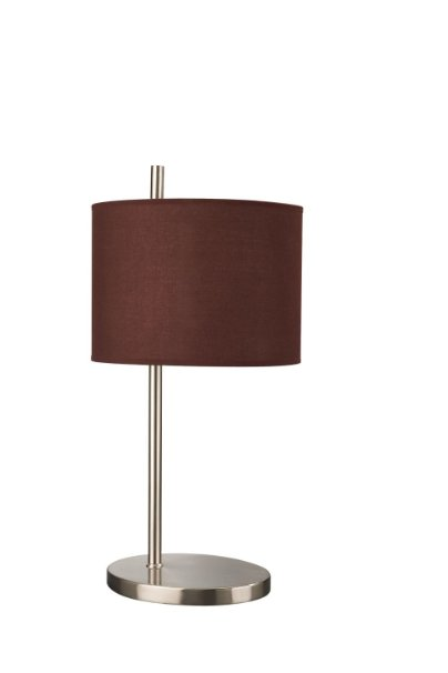 Philips Wall Lamp Shades : New Philips Massive Berlus Touch Table Lamp w/Brown Fabric Shade 1x60W Chrome eBay