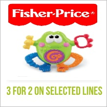 3 for 2 on selected Fisher Price Toys