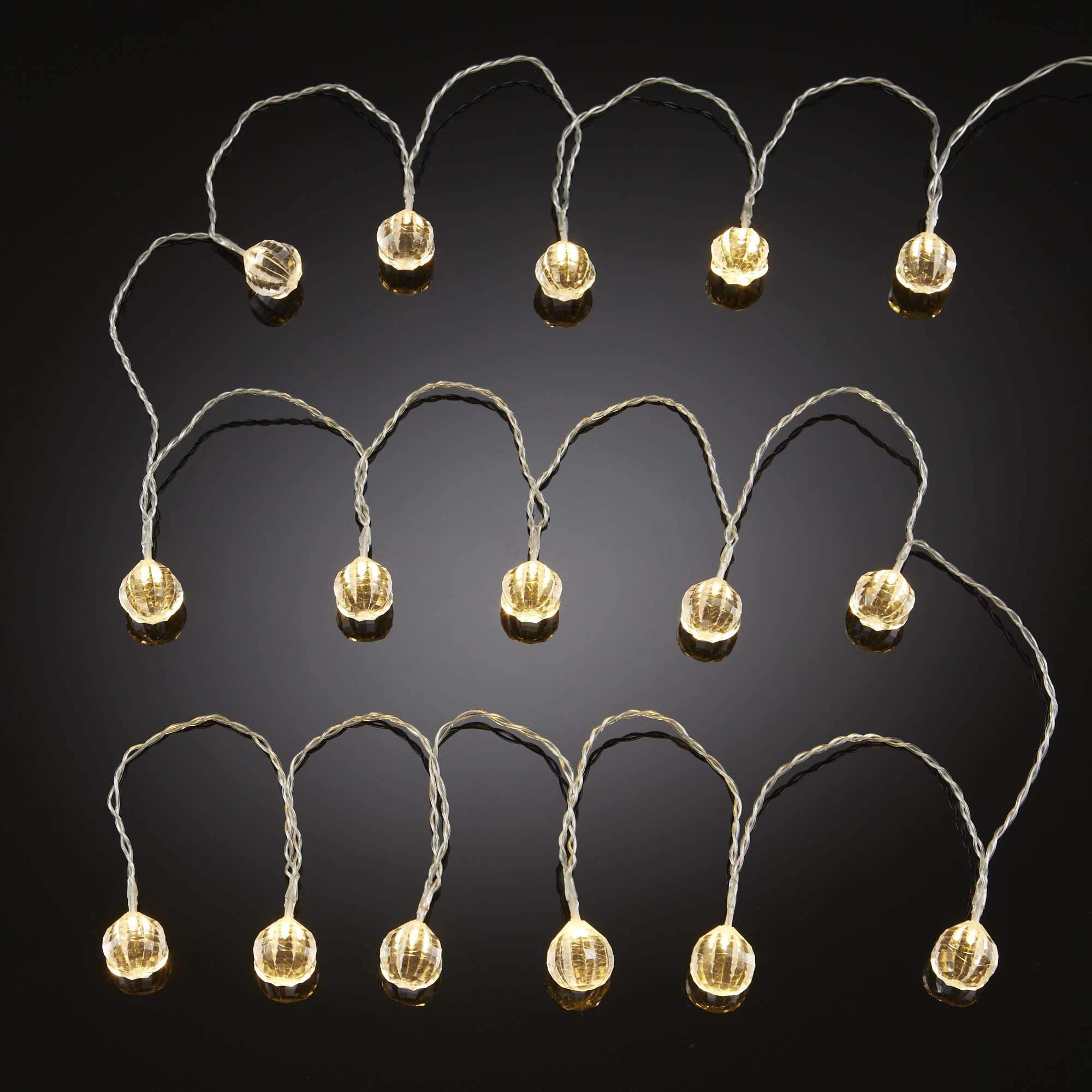 String Lights Sainsburys : Clear Gem String Lights 16 Lights Adds A Touch Of Glamour To Any Home eBay