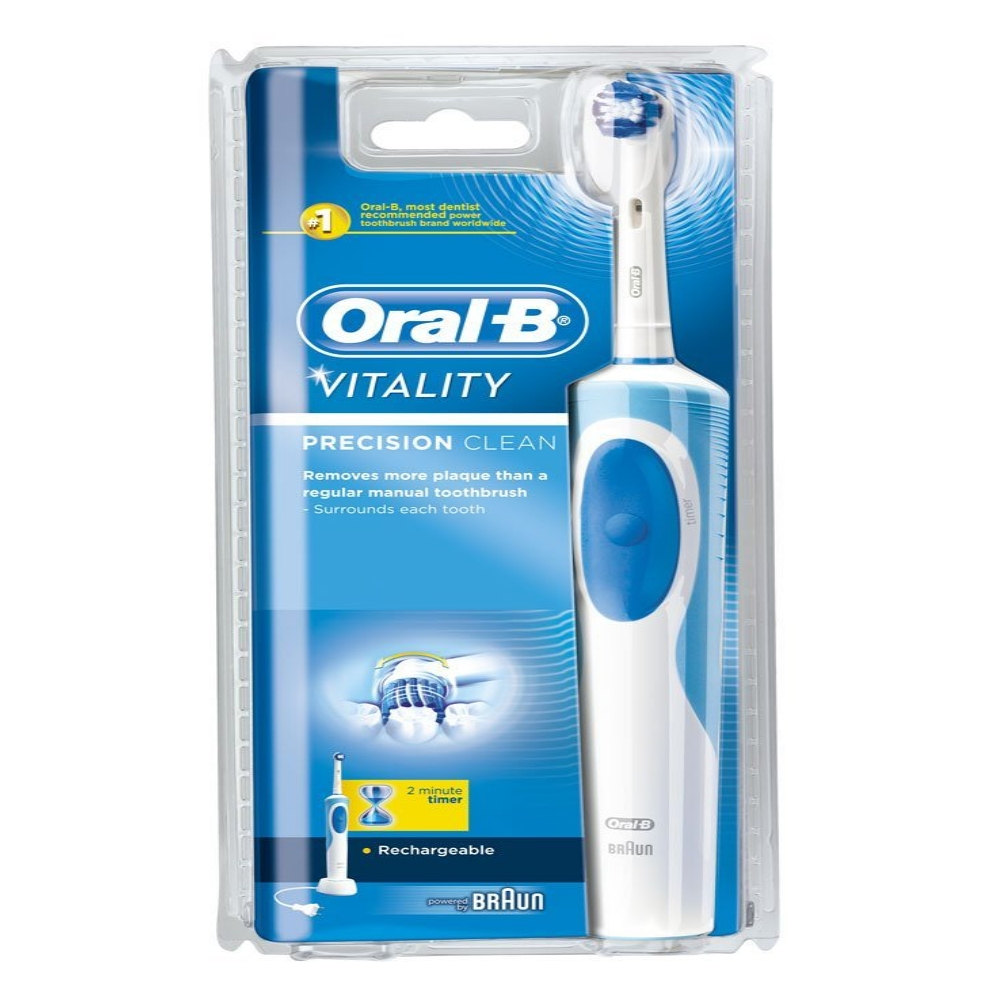 braun oral b vitality precision clean rechargeable toothbrush 2d cleaning ebay. Black Bedroom Furniture Sets. Home Design Ideas