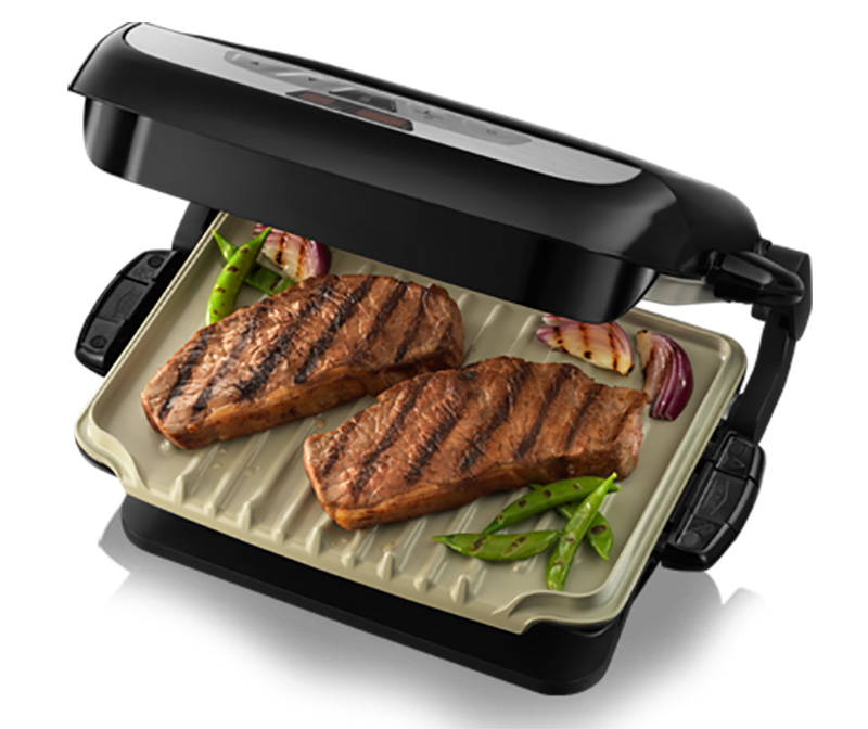 George foreman 21610 evolve grill with 2 ceramic coated grill plates ebay - George foreman evolve grill ...