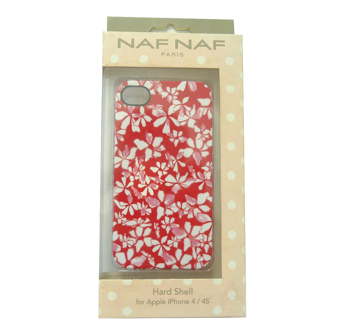 naf naf paris phone hard shell case red flower for apple iphone 4 4s cut outs ebay. Black Bedroom Furniture Sets. Home Design Ideas