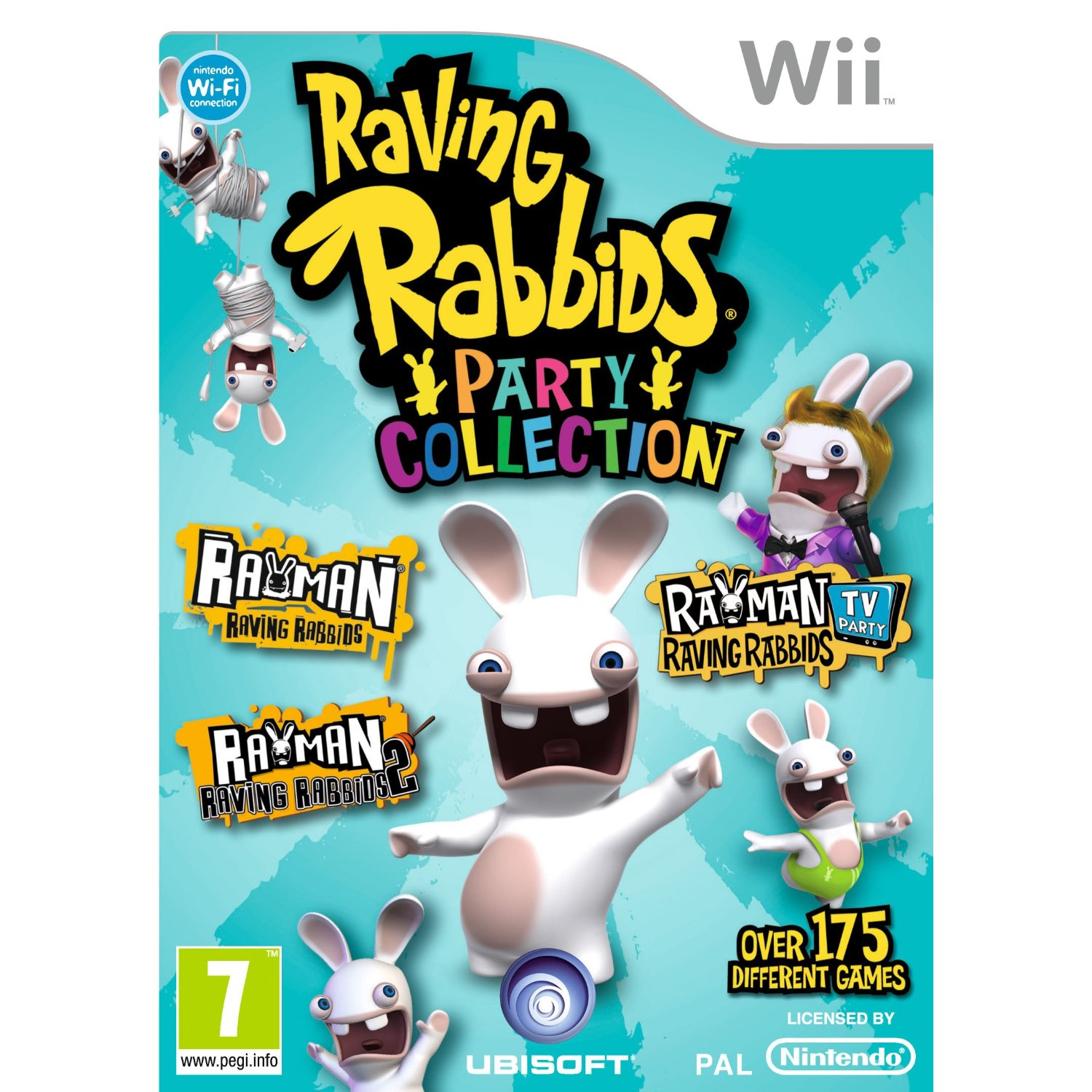 nintendo wii raving rabbids party collection 3 games. Black Bedroom Furniture Sets. Home Design Ideas