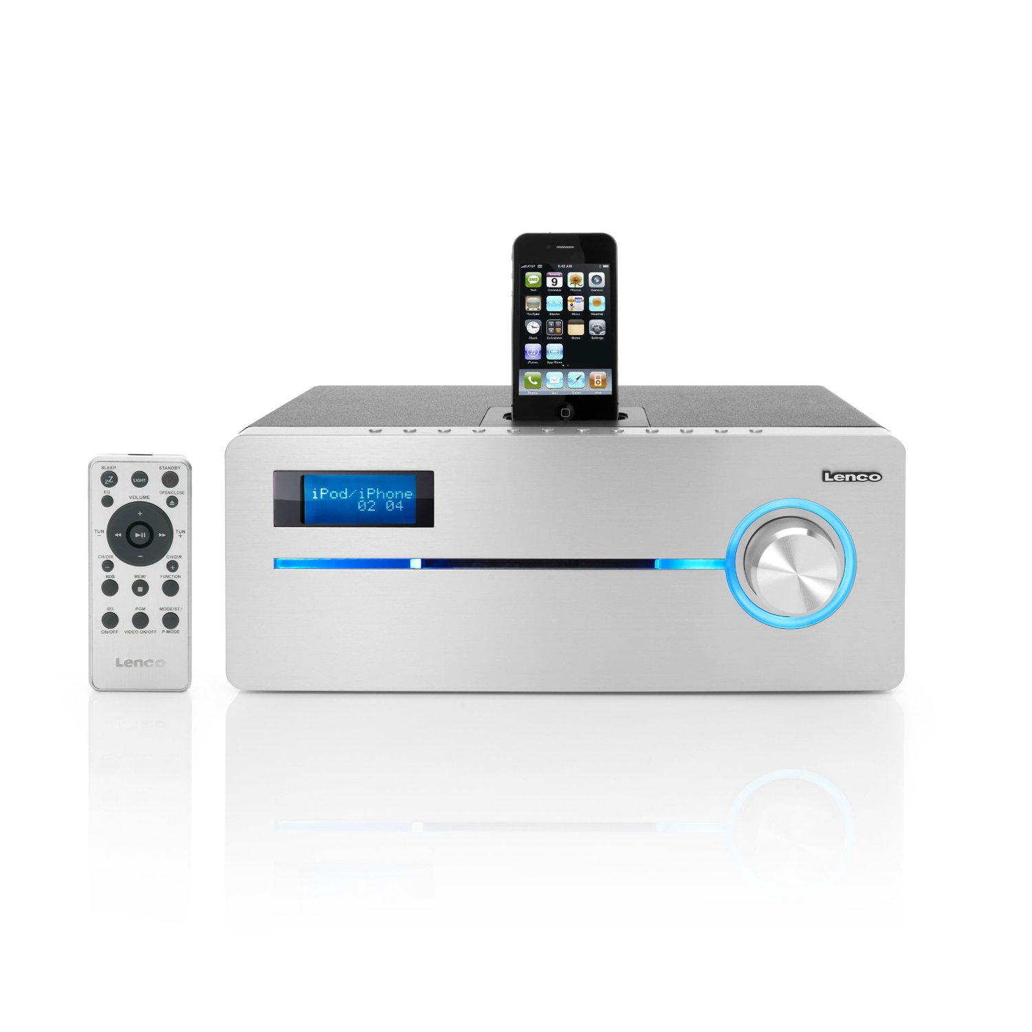 lenco ipd9000 dab iphone ipod docking station mit fm radio cd mp3 player ebay. Black Bedroom Furniture Sets. Home Design Ideas
