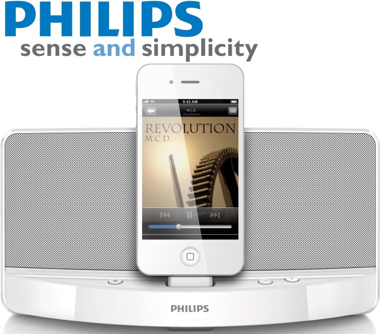 PHILIPS AD313/05 DOCKING SPEAKER DOCK PLAY & CHARGE YOUR ...