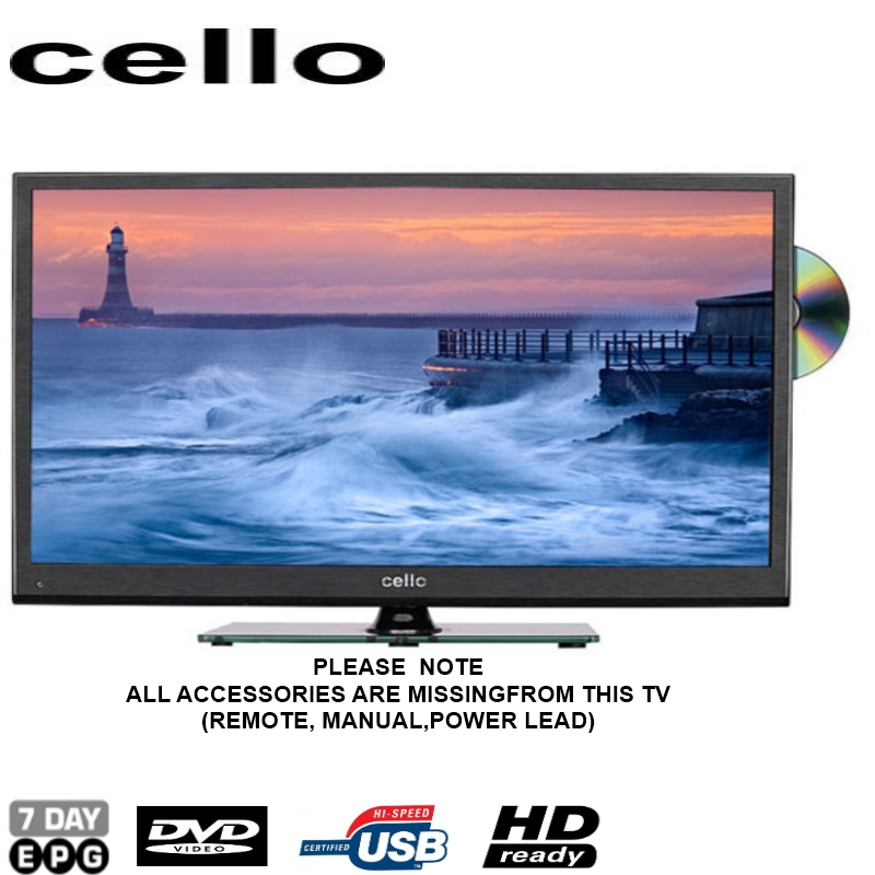 cello c32224f 32 led tv dvd combi hd ready freeview missing accessories ebay. Black Bedroom Furniture Sets. Home Design Ideas