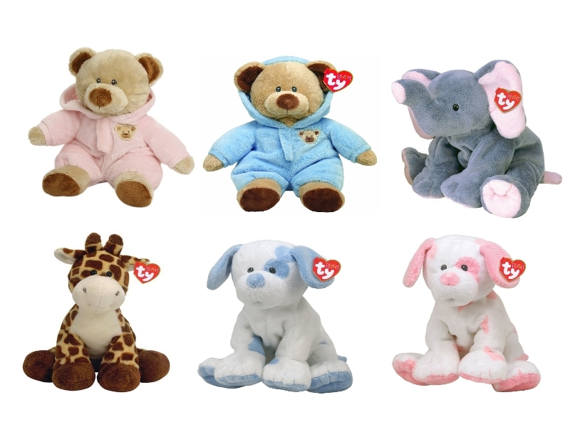 Baby Toys Age 10 : New ty pluffies quot soft teddy bear baby toy various