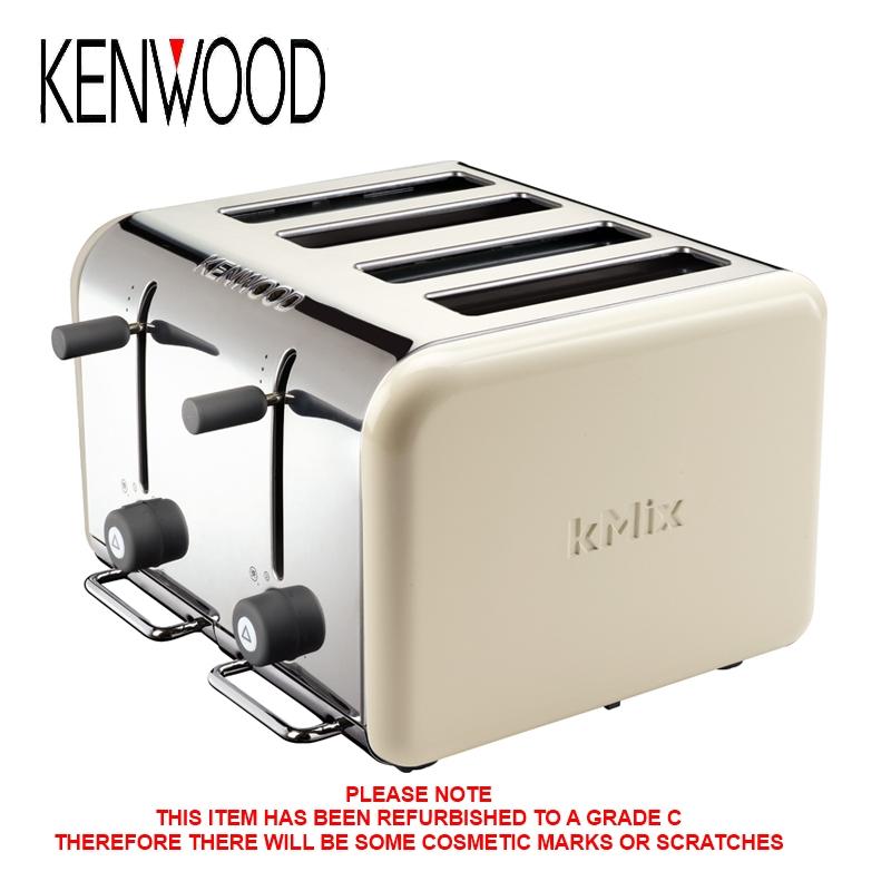 kenwood kmix ttm042 almond 4 slice toaster high lift facility c grade ebay. Black Bedroom Furniture Sets. Home Design Ideas