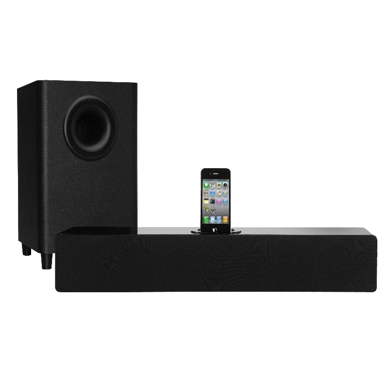 ORBITSOUND T10 SOUNDBAR WITH SUBWOOFER IPHONE/IPOD DOCK 180W OPTICAL IN