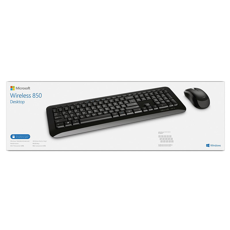 new microsoft wireless 850 desktop keyboard and mouse set german hdwr py9 00006 ebay. Black Bedroom Furniture Sets. Home Design Ideas