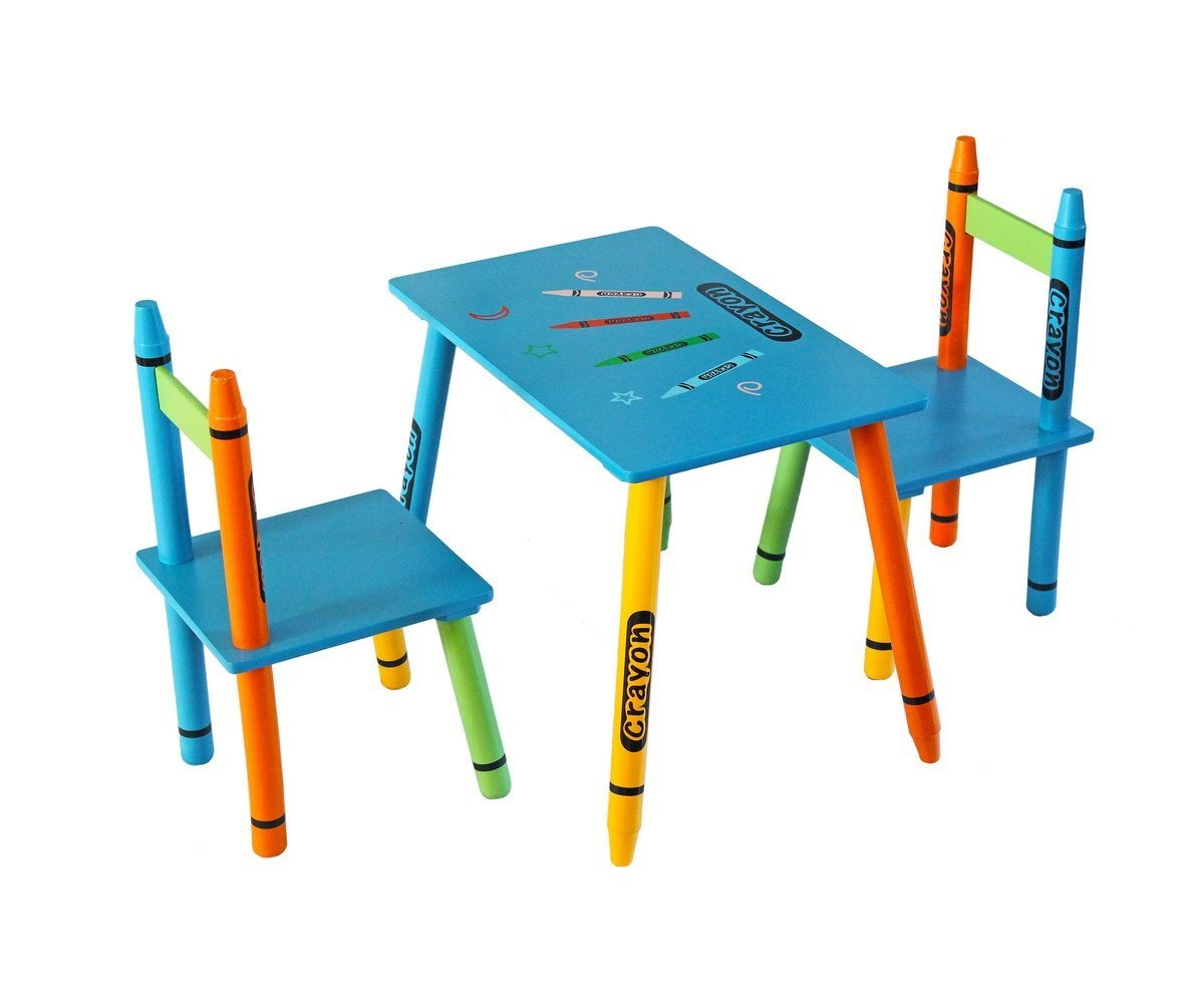 Bebe Style Childrens Wooden Table & Chair Set 1 Table 2