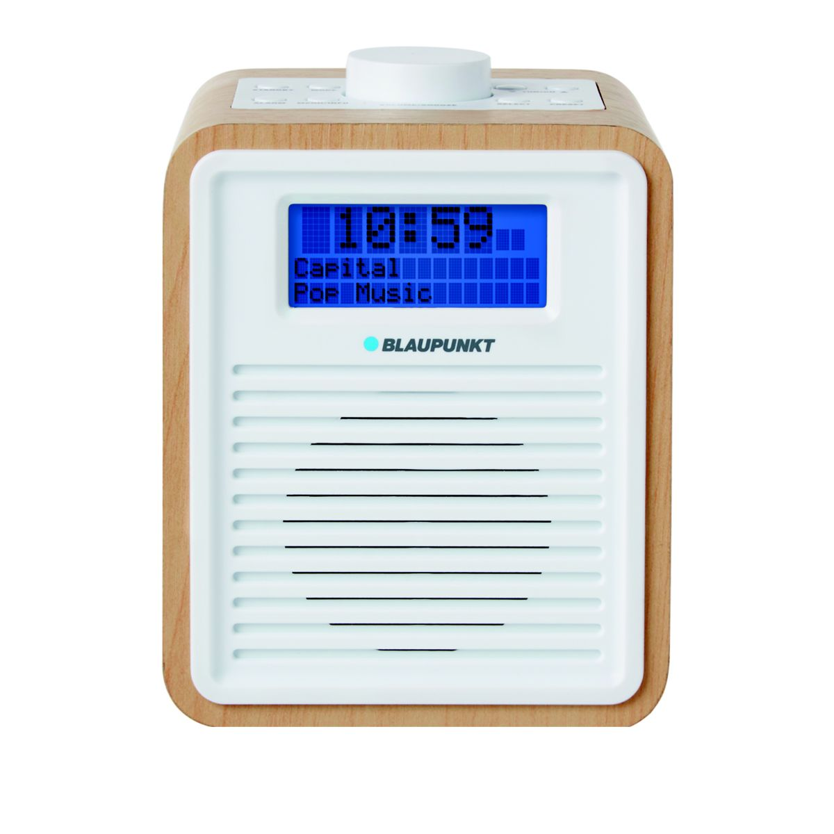 blaupunkt ne 6006 dab fm digital alarm clock radio wood effect with 20 preset. Black Bedroom Furniture Sets. Home Design Ideas