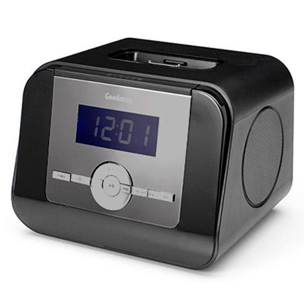 goodmans gcr1873ip alarm clock radio black with universal ipod iphone dock ebay. Black Bedroom Furniture Sets. Home Design Ideas