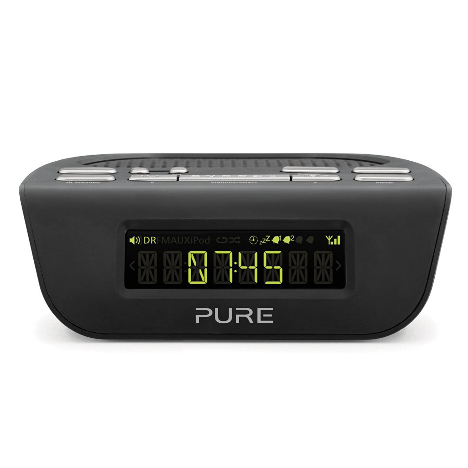 pure siesta mi series 2 dab fm digital radio alarm clock black unit only 759454813956 ebay. Black Bedroom Furniture Sets. Home Design Ideas