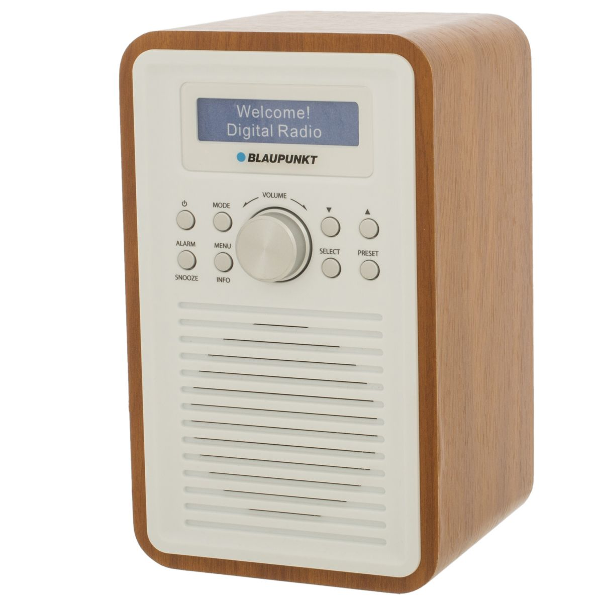 blaupunkt bpr 1 walnut vertical dab dab fm digital radio. Black Bedroom Furniture Sets. Home Design Ideas