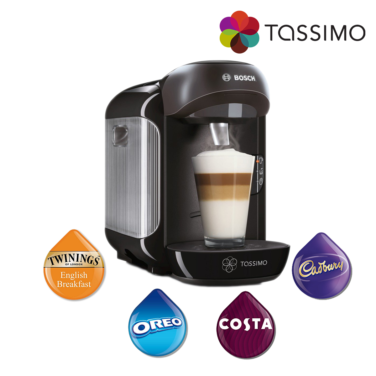 bosch tassimo vivy tas1252gb coffee pod machine hot drink maker 0 7l 1300w 4242002830759 ebay. Black Bedroom Furniture Sets. Home Design Ideas
