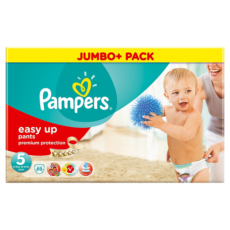 pampers easy up pants nappies size 5 junior 12 18kg jumbo. Black Bedroom Furniture Sets. Home Design Ideas