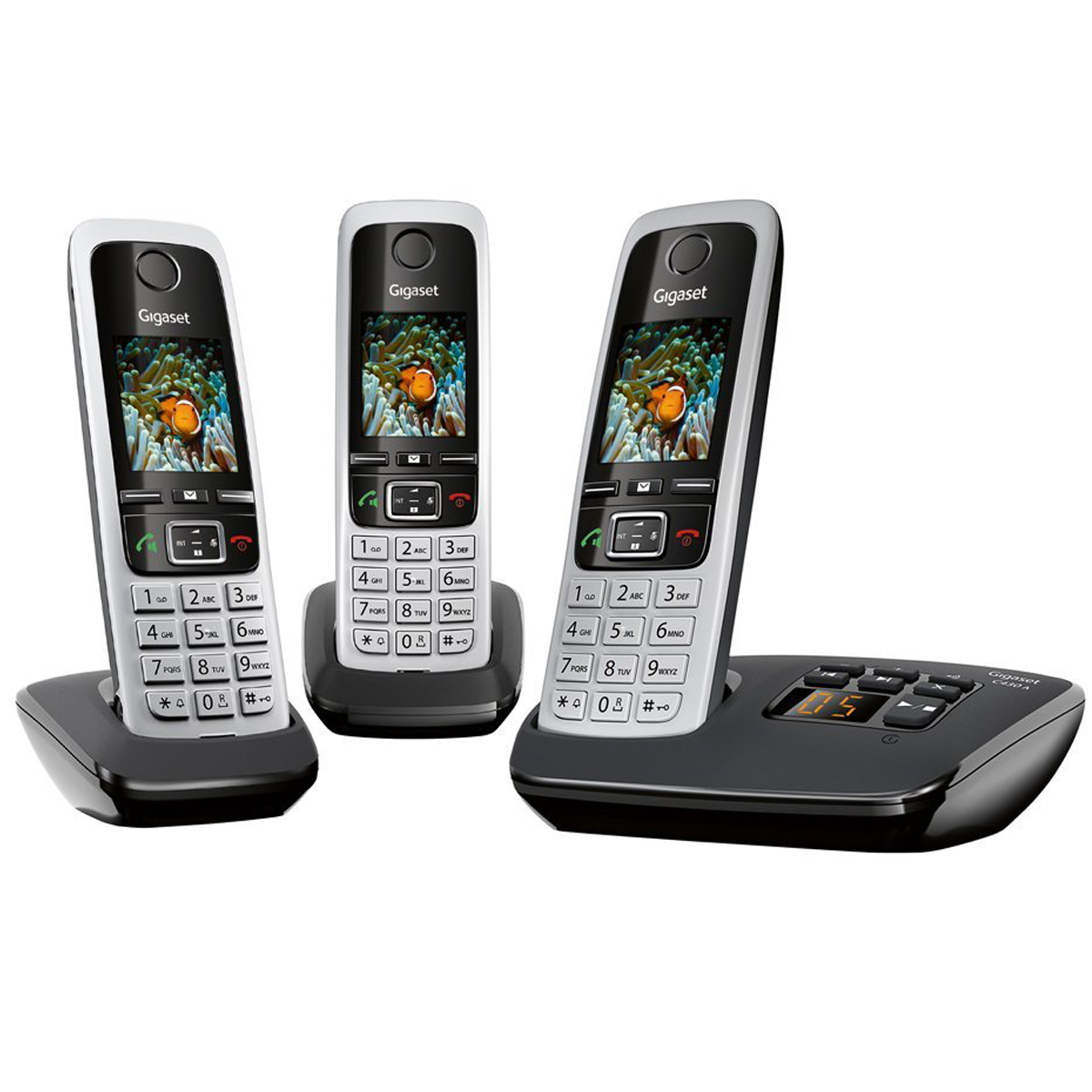siemens gigaset c430a trio dect cordless phone with answering machine grade c ebay. Black Bedroom Furniture Sets. Home Design Ideas