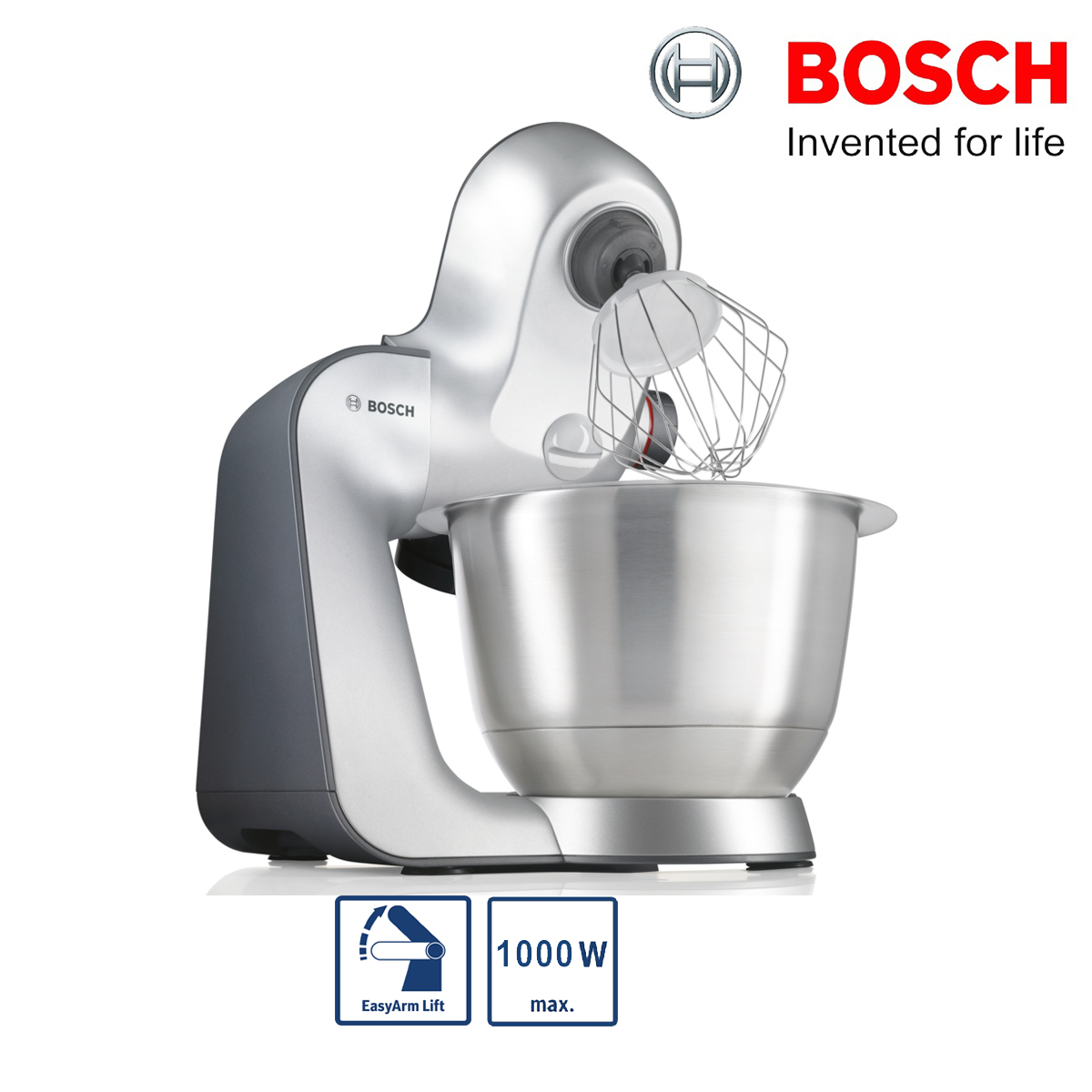 bosch mum59340gb mum5 kitchen machine food mixer silver 1000w 3 9l unit only ebay. Black Bedroom Furniture Sets. Home Design Ideas