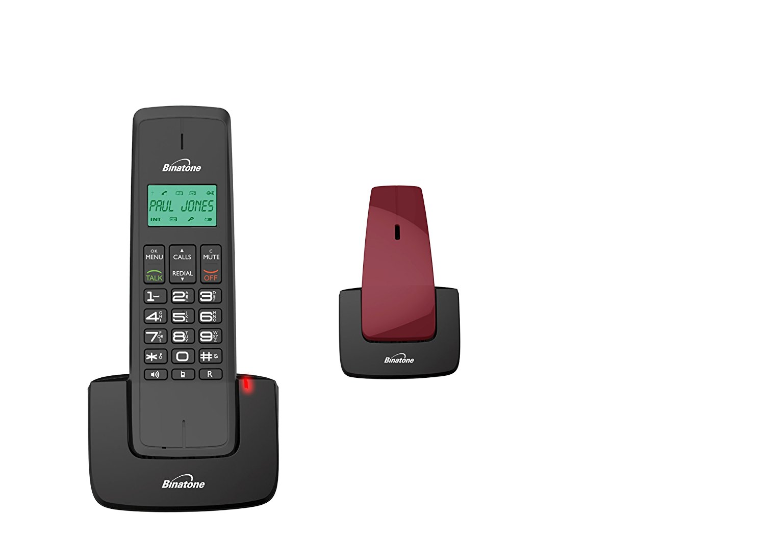 Brand new binatone designer 2102 twin dect digital cordless phone red ebay - Designer cordless home phones ...