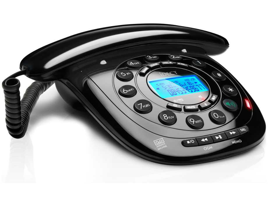 corded telephone with answering machine