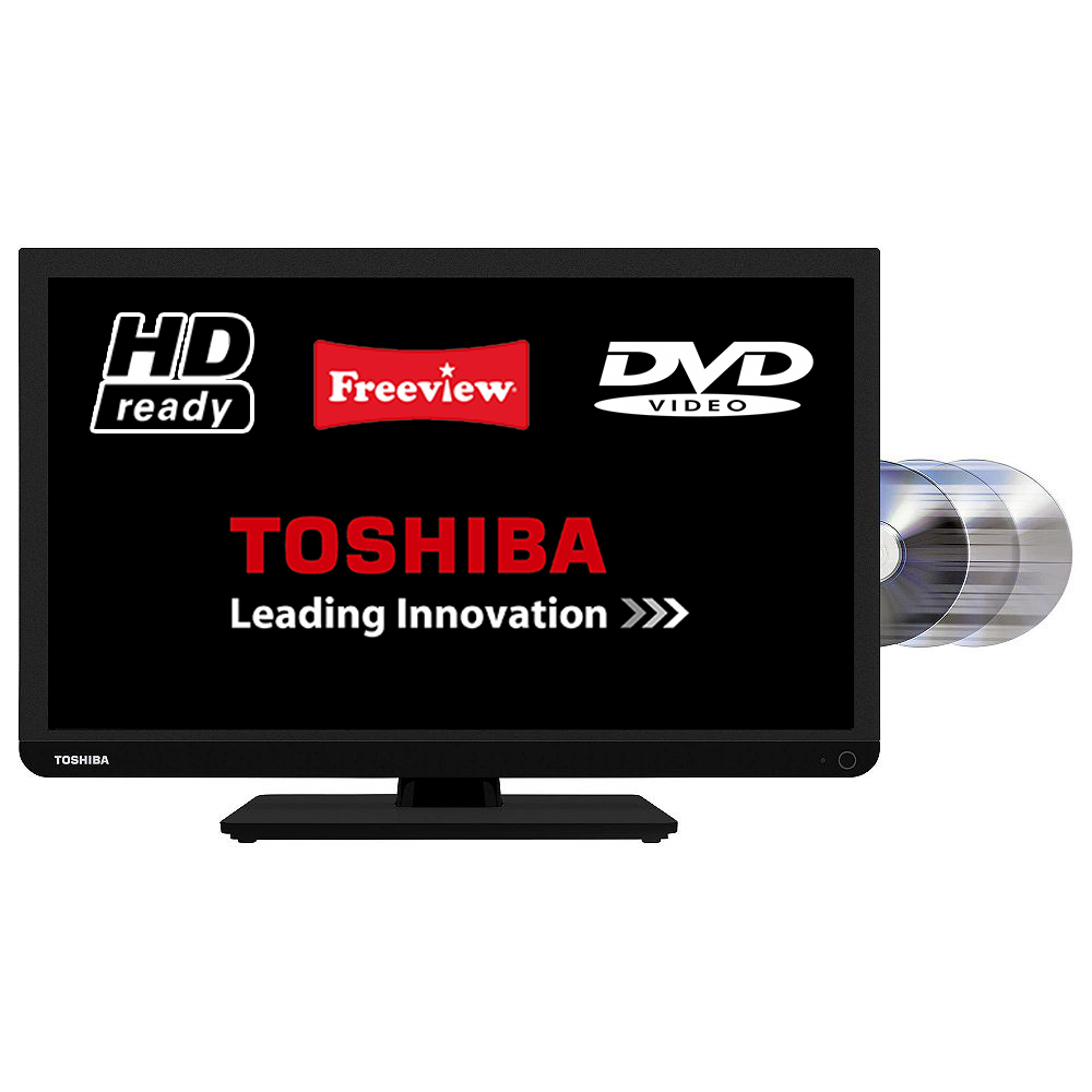 toshiba 24d1433db 24 led tv dvd combi hd ready 720p with freeview 5900496529717 ebay. Black Bedroom Furniture Sets. Home Design Ideas