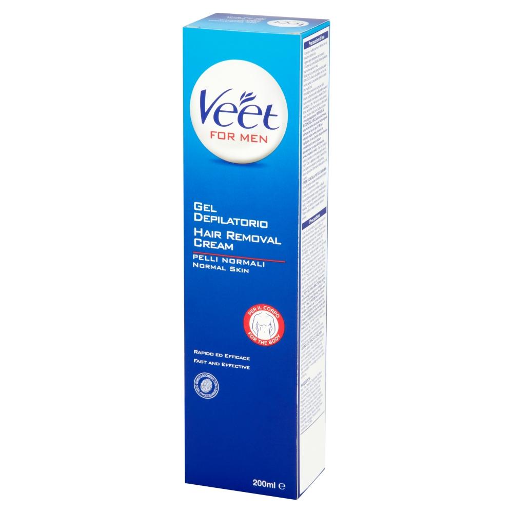 Veet For Men Hair Removal 200ml Cream For Normal Skin Works In Shower No Razor