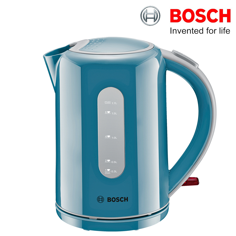 bosch twk76021gb village cordless kettle light blue 1 7l. Black Bedroom Furniture Sets. Home Design Ideas