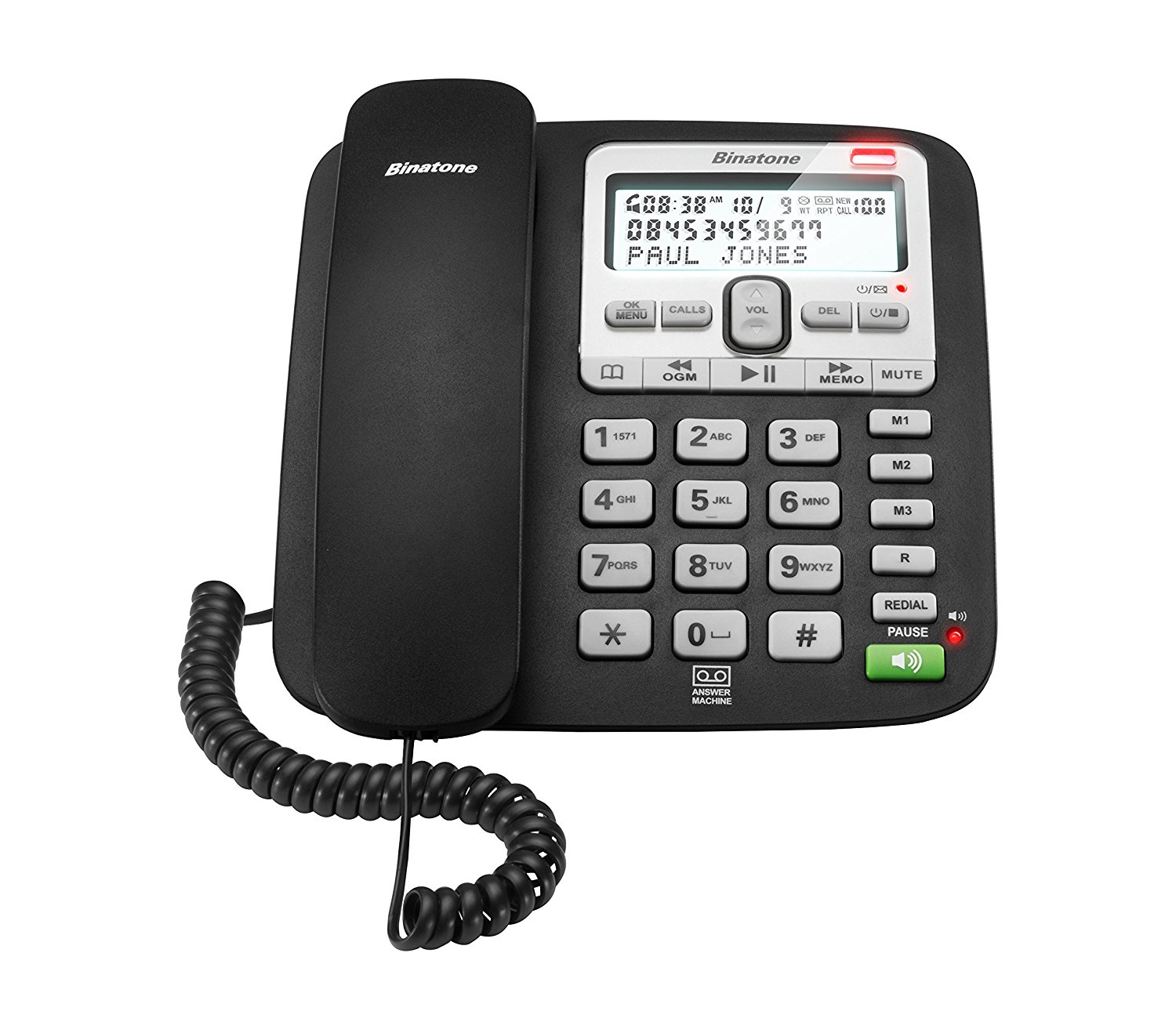 New Binatone Acura 3000 Single Corded Phone With Call