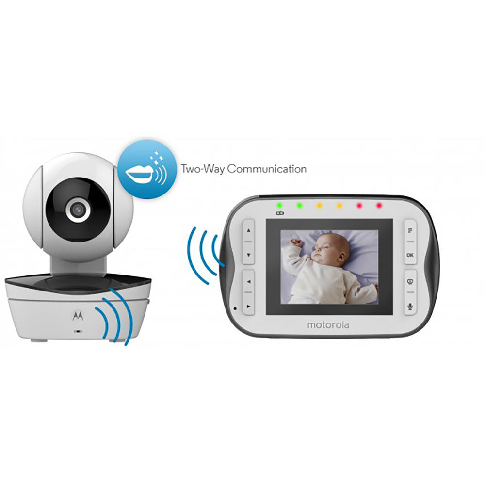 motorola mbp41s video baby monitor with 2 8 diagonal screen infrared night ebay. Black Bedroom Furniture Sets. Home Design Ideas