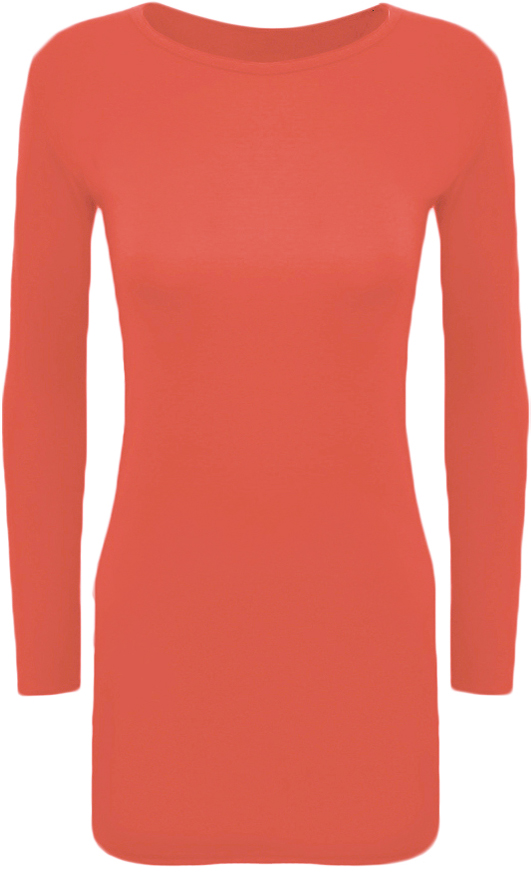 New-Womens-Long-Sleeve-Stretch-Bodycon-Ladies-Plain-Short-Mini-Dress-Top-8-14