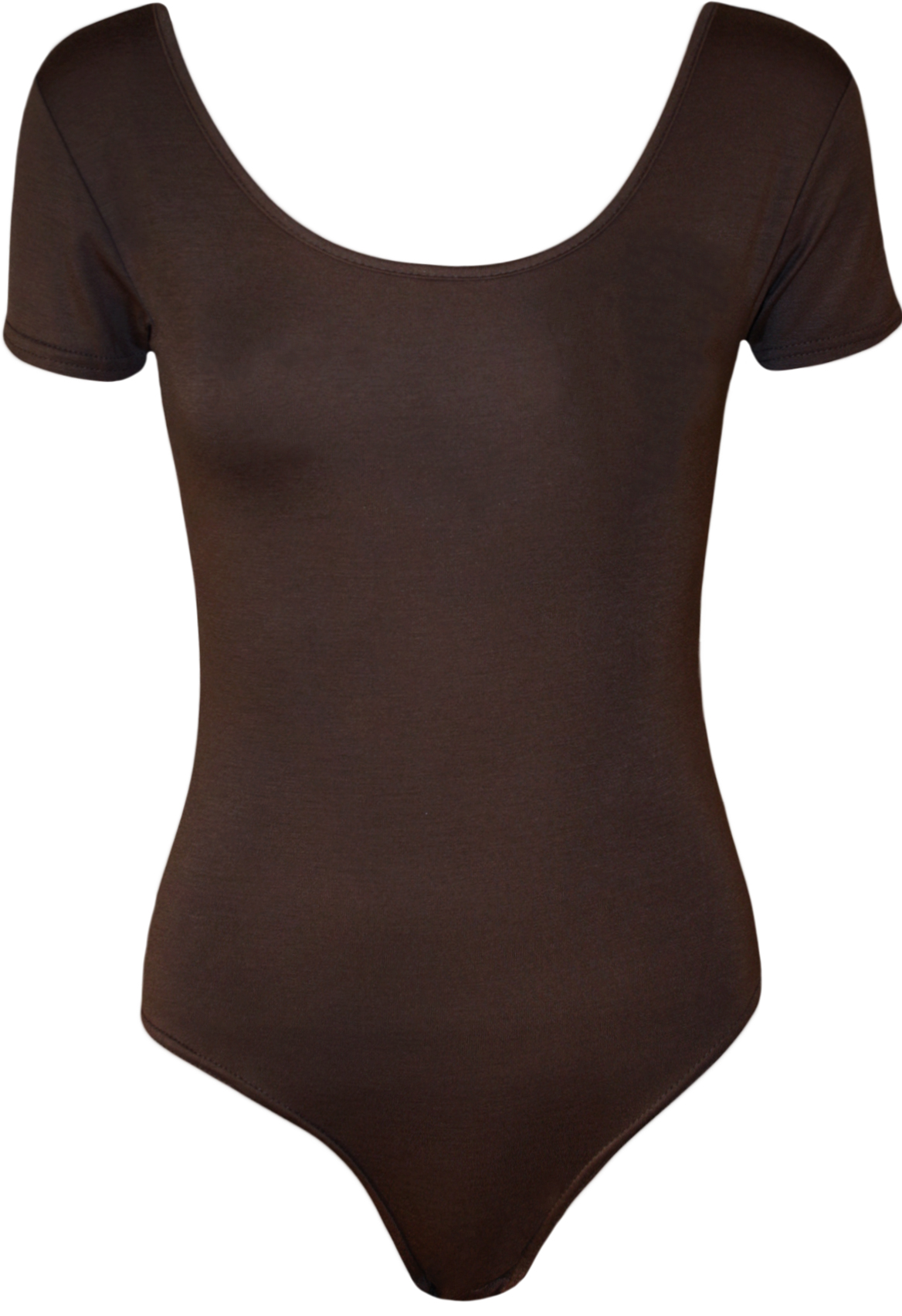 New-Plus-Womens-Plain-Short-Sleeve-Stretch-Ladies-Bodysuit-Leotard-Top-16-26